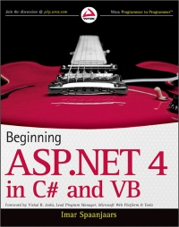 Beginning ASP.NET 4 in C# and VB Free Ebook