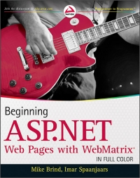 Beginning ASP.NET Web Pages with WebMatrix Free Ebook