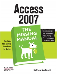 Access 2007: The Missing Manual Free Ebook