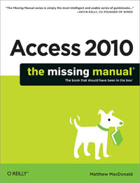 Access 2010: The Missing Manual Free Ebook