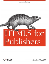 HTML5 for Publishers Free Ebook