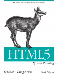 HTML5: Up and Running Free Ebook