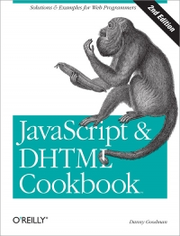 JavaScript & DHTML Cookbook, 2nd Edition Free Ebook
