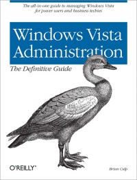 Windows Vista Administration: The Definitive Guide Free Ebook