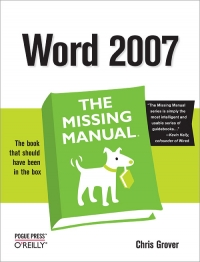 Word 2007: The Missing Manual Free Ebook