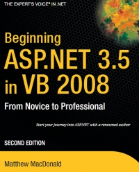 Beginning ASP.NET 3.5 in VB 2008, 2nd Edition