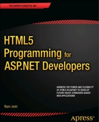 HTML5 Programming for ASP.NET Developers Free Ebook