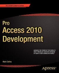 Pro Access 2010 Development Free Ebook