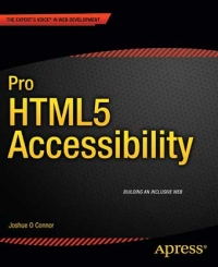 Pro HTML5 Accessibility Free Ebook