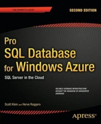 Download Pro SQL Database for Windows Azure, 2nd Edition SQL Server in the Cloud online books