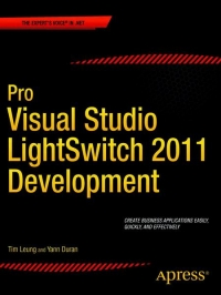 Pro Visual Studio LightSwitch 2011 Development Free Ebook