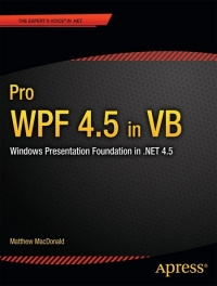 Pro WPF 4.5 in VB Free Ebook
