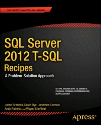 SQL Server 2012 T-SQL Recipes, 3rd Edition Free Ebook