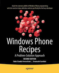 Windows Phone Recipes, 2nd Edition Free Ebook