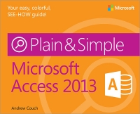 Microsoft Access 2013 Plain & Simple Free Ebook