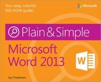 Microsoft Word 2013 Plain & Simple Free Ebook