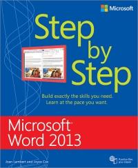 Microsoft Word 2013 Step by Step Free Ebook