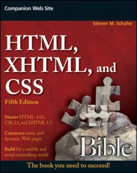 HTML, XHTML, and CSS Bible, 5th Edition Free Ebook